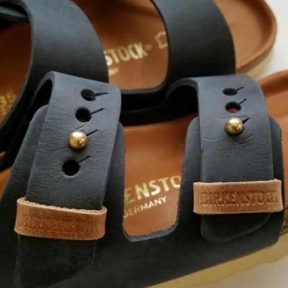 Birkenstock Arizona Exquisite Urban Black Leather NWT